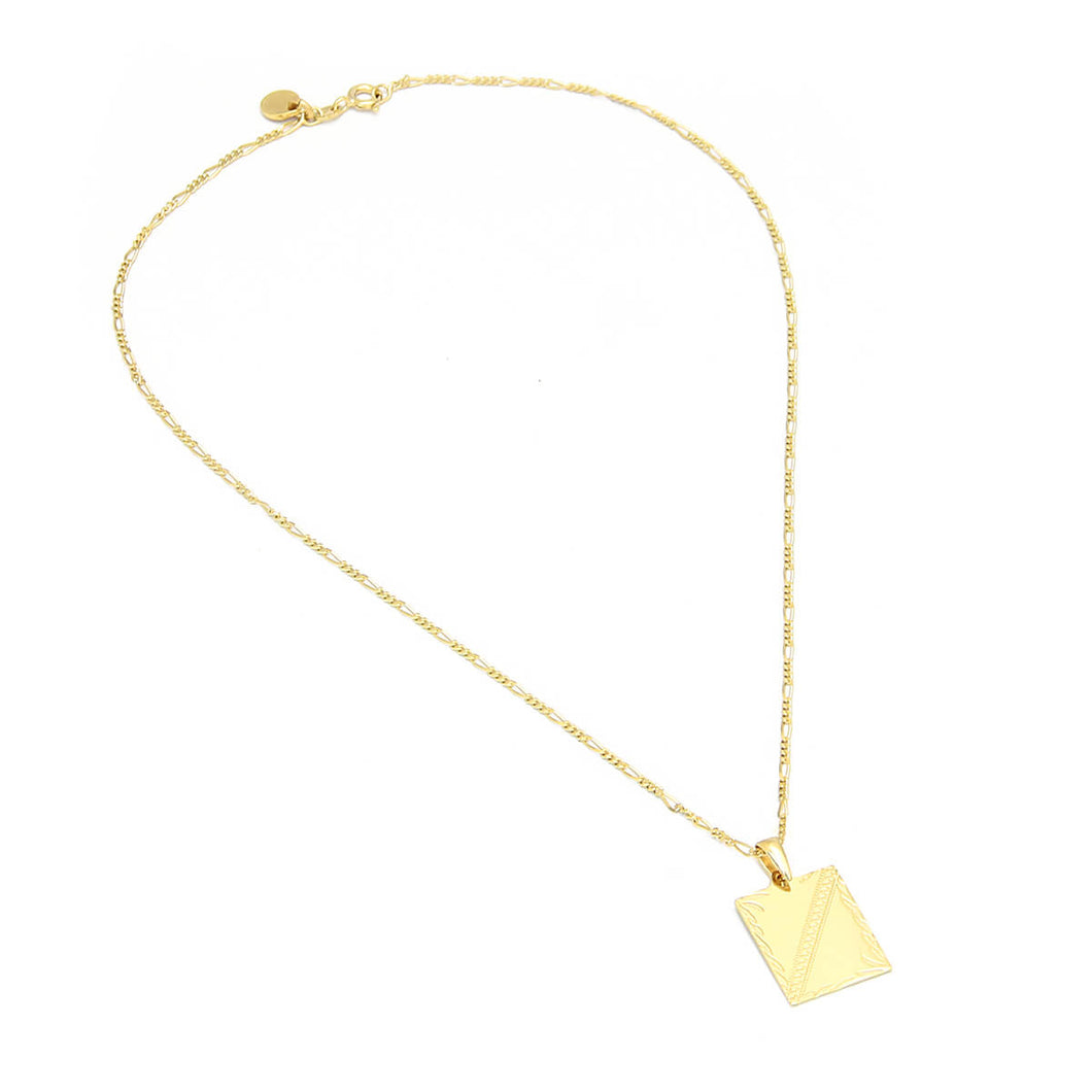 Clio Necklace - Sterling Silver, Gold Plated