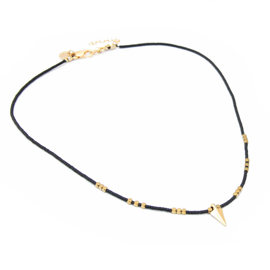 Rocky Necklace - Special Edition - Black & Gold Filled
