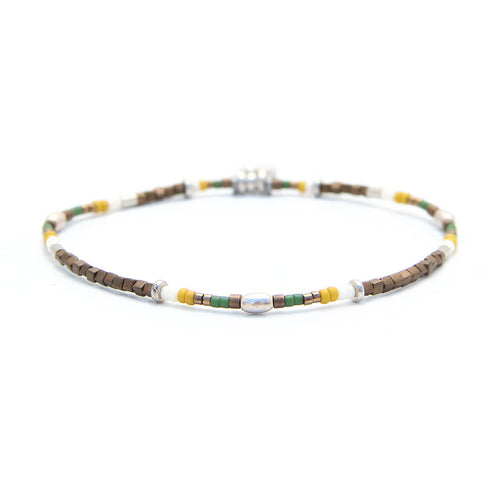 Rio Bracelet - Men - Green, Yellow & Sterling Silver
