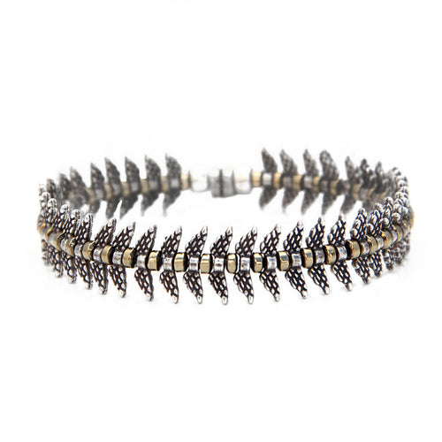 Camila Bracelet - Silver & Gold Plated