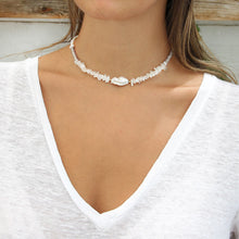 Wild Pearls Choker Necklace with gemstones