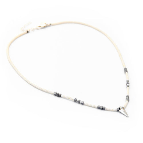 Rocky Necklace - Special Edition - White & Sterling Silver