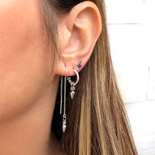 Sterling Silver Cone Tassel Earrings