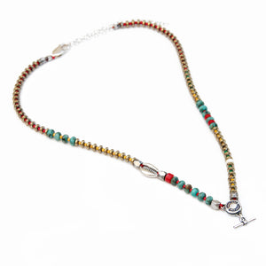 Niky Necklace - Red, Turquoise & Silver (Special Edition)