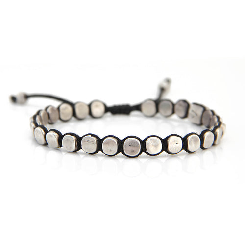 Brian Bracelet - Men - Black & Silver Plated