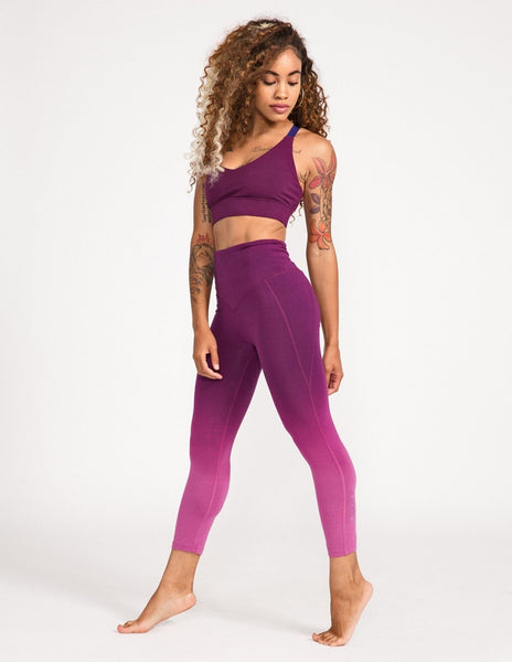 Surrender 3/4 Legging - Mystic Purple Ombre - Leggings