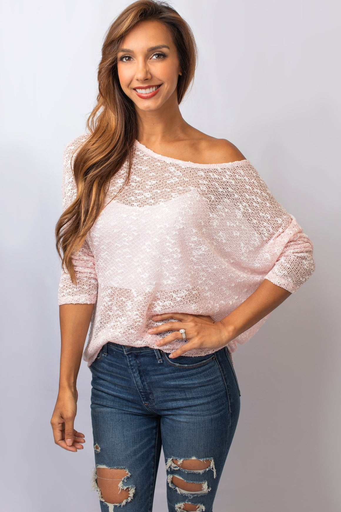 Pink Dolman Long Sleeve Top