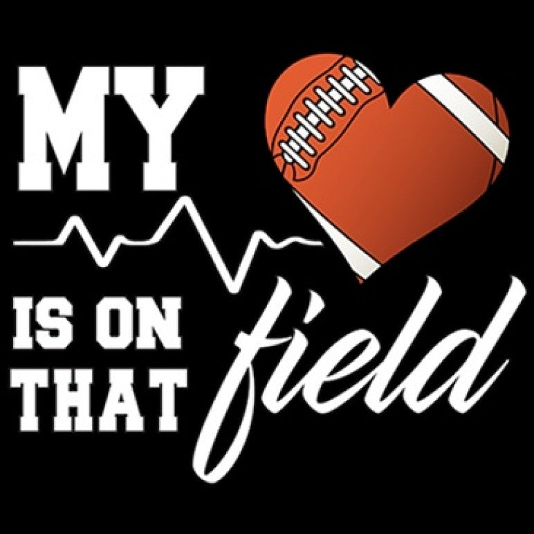 My Heart Is On That Field Football Custom Creations By Cc