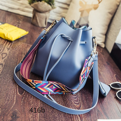 Miyahouse Fashion Colorful Strap Bucket Bag Women High Quality Pu Leather Shoulder Bag Brand Desinger Ladies Crossbody Bags - ChicPorter.Com