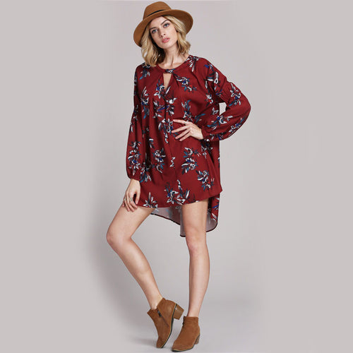 Boho Flower Dress - ChicPorter.Com