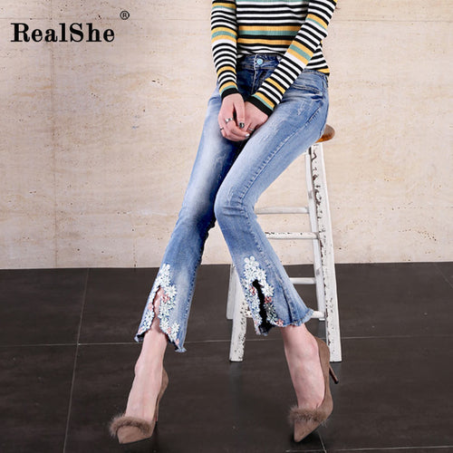 Women flare jeans - ChicPorter.Com