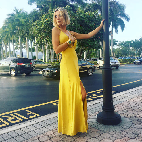 Maxi Mustard Yellow Dress