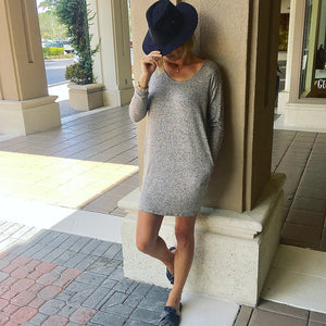 Sweater Dress, Long Sleeve Dress, Fall Dress, Cross Back Dress