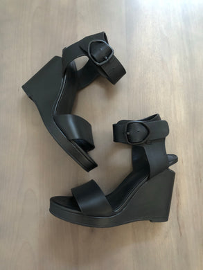 Rudsak Black Wedge Sandals Size 8