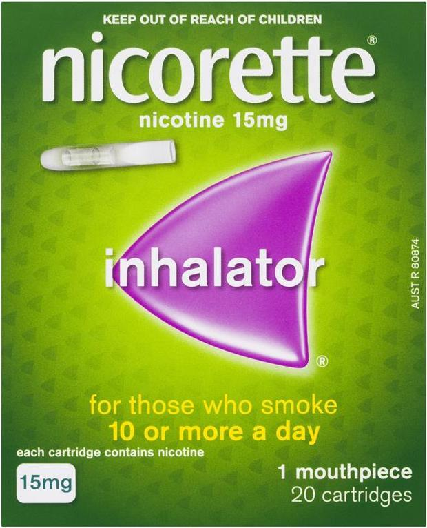 Nicorette Inhalators 15mg 20's