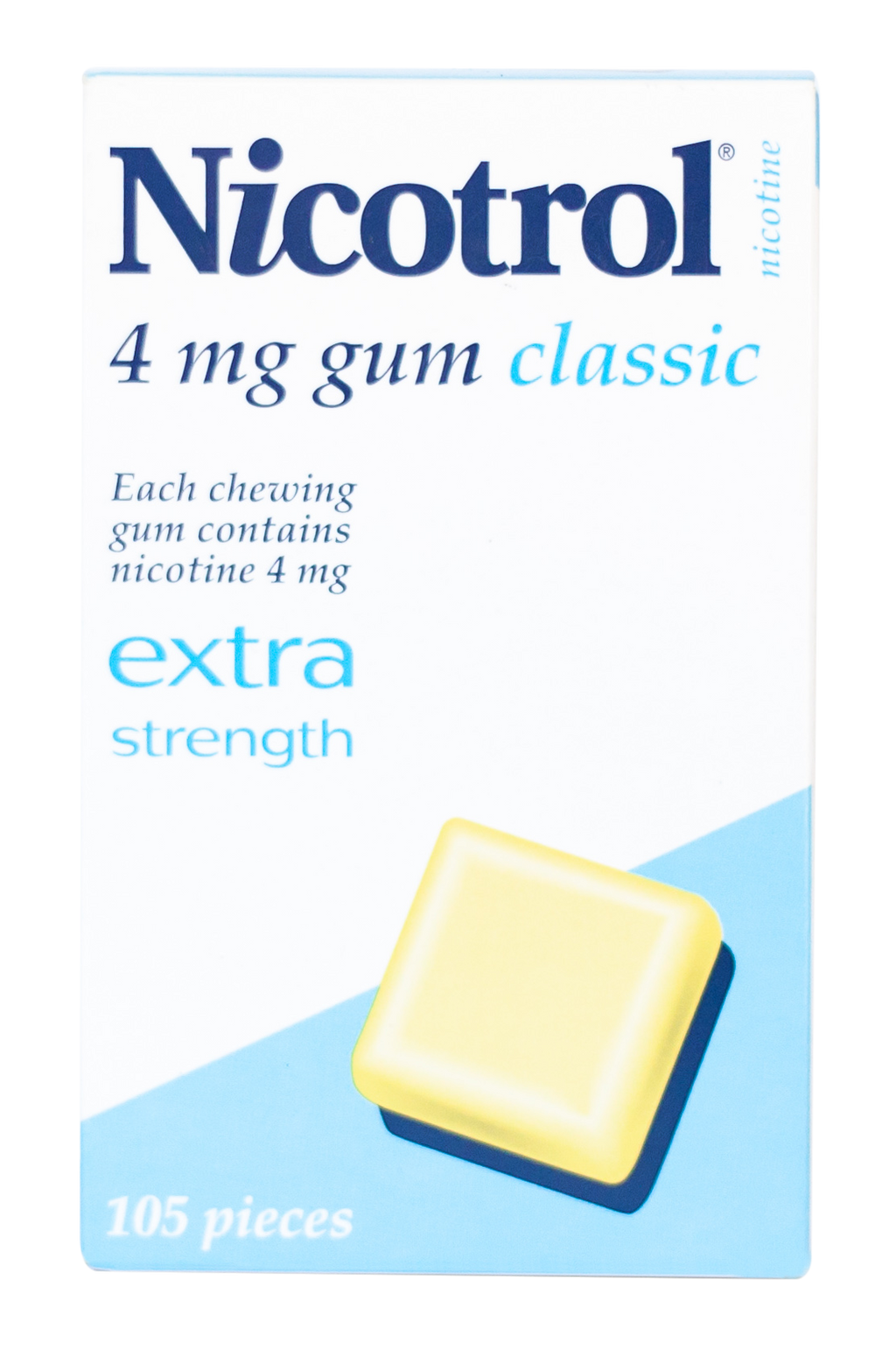 Nicotrol Gum 4mg Classic 105 Pieces Extra Strength to Quit Smoking