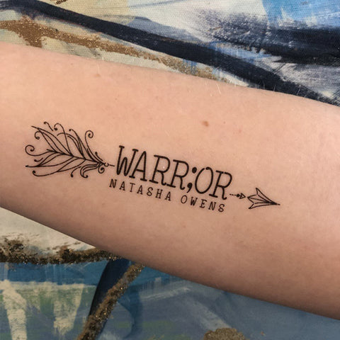 Temporary Scripture Tattoos - Warrior