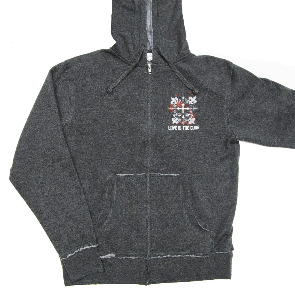 """Love is the Cure"" Zip-up Hoody"