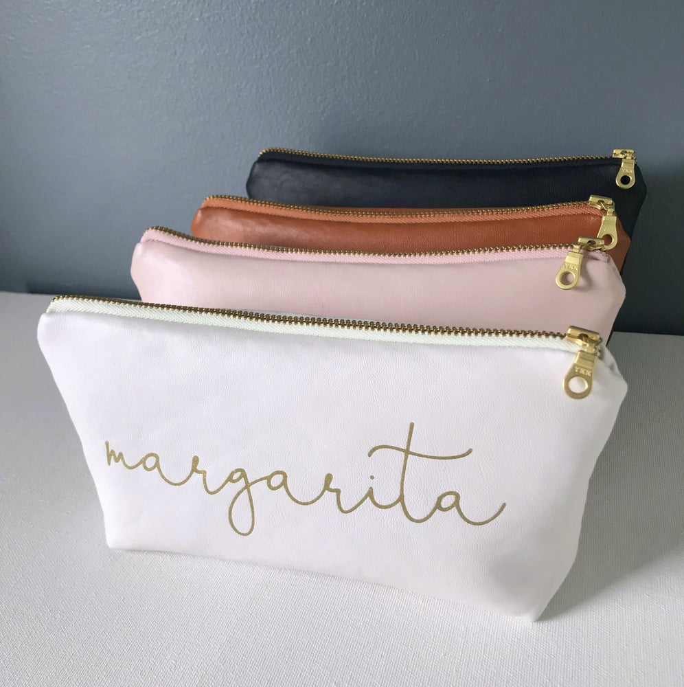 Personalized Name Bag | Chestnut & Gold