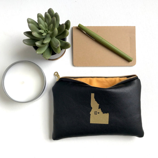 Idaho Home State Leather Bag