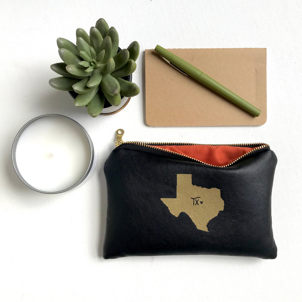 Texas Home State Leather Bag