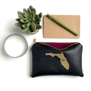 Florida Black Leather Bag