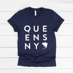 Queens Box Tee | Navy