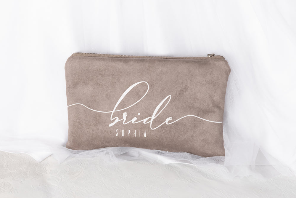 BRIDAL CLUTCH TAUPE | Personalized