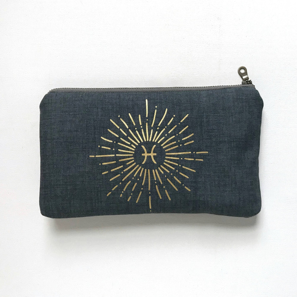 Durable Canvas Zipper Zodiac Bag