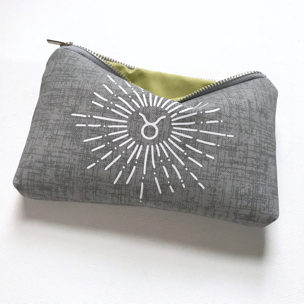Grey Canvas Zodiac Bag