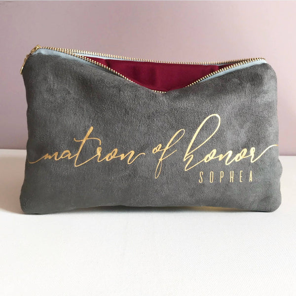 Personalized Bridesmaid Clutch Bag