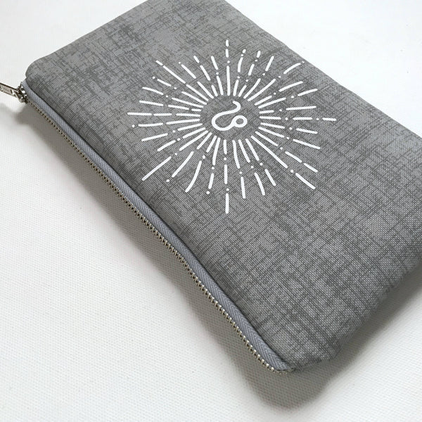 Personalized Sunburst Bag | Light Grey