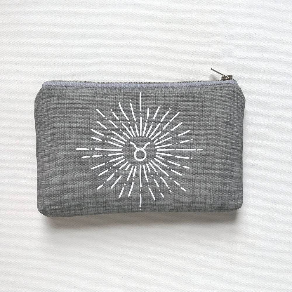 Taurus Zodiac Sign - grey Zodiac Bag