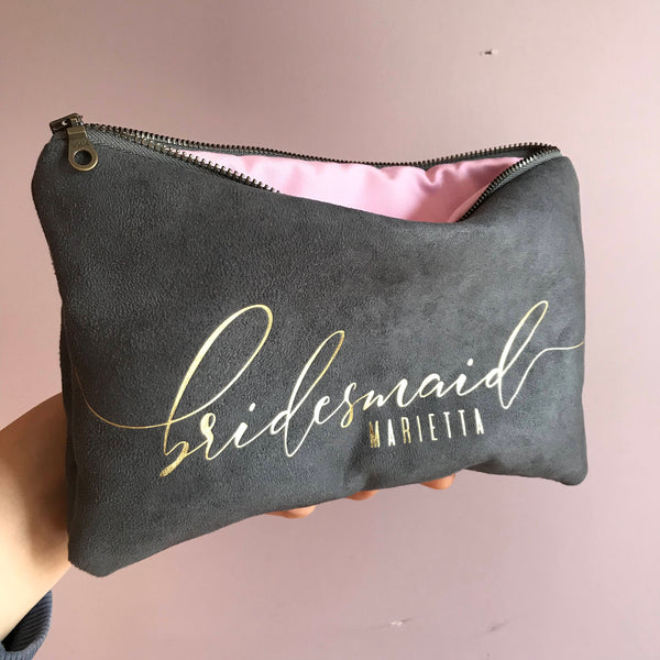 Soft Vegan Suede Clutch Bag