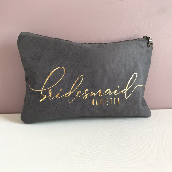Bridesmaid Grey Clutch Bag