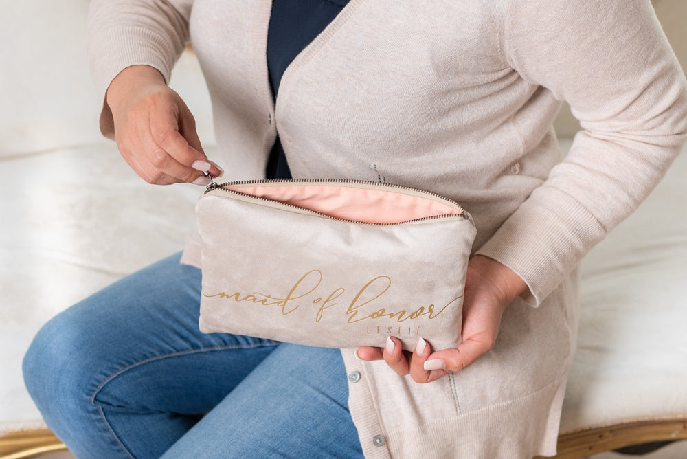 Personalized Name Clutch Bag