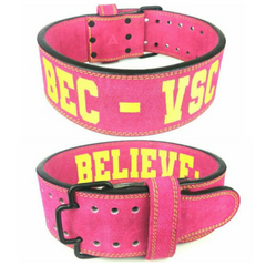 custom-leather-weightlifting-belt-pink-sued-quick-release