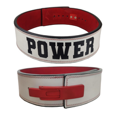 custom-leather-weightlifting-belt-power-red-white-lever