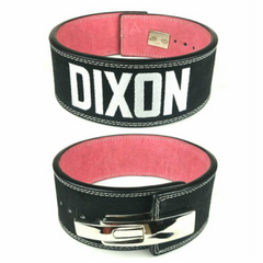 custom-leather-weightlifting-belt-pink-suede-black-white-lever