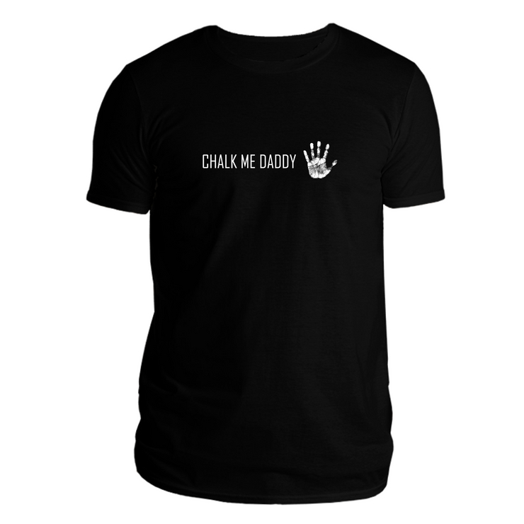 Chalk Me Daddy Tee - Black