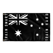 Anvil Australian Gym Flag - Train Smart Train Hard Front View