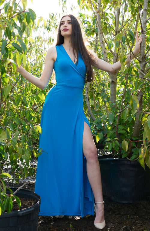 Kaur Azure Blue Dress