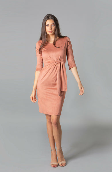 Saint Germaine Blush Tie Dress