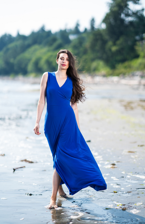 Kaur Cobalt Blue Dress
