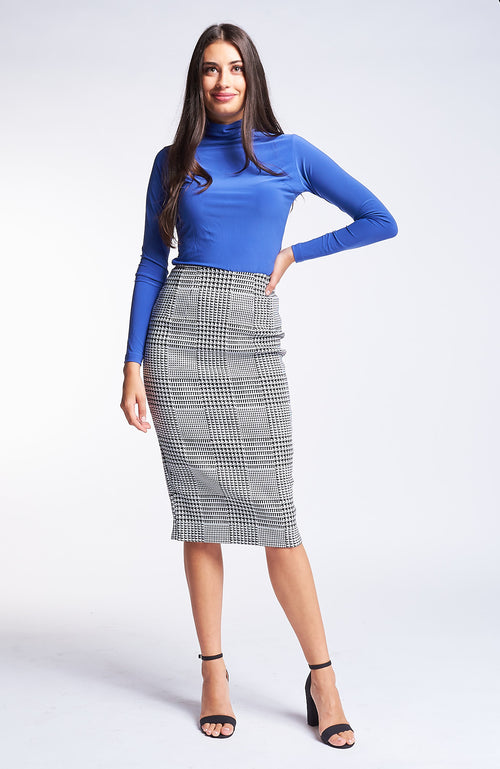 Bernetta Plaid Skirt