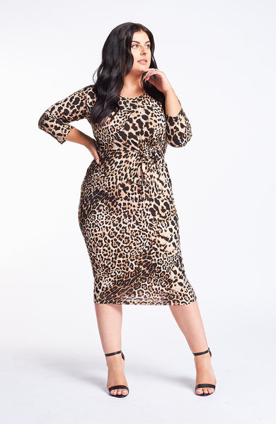 Saint Germaine Leopard Tie Dress