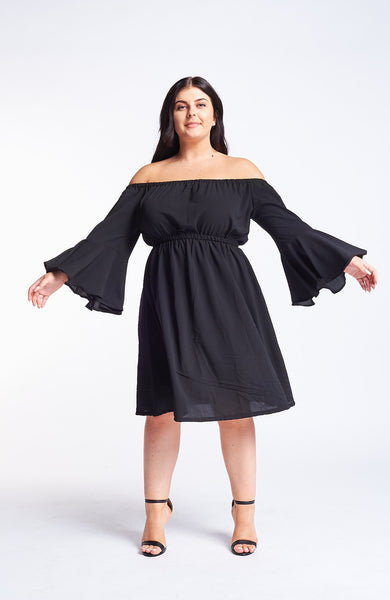 Kavya Black Dress