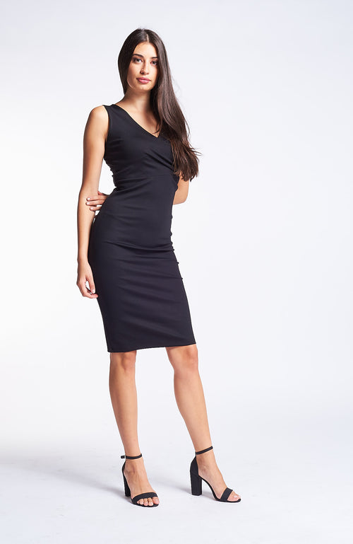 Kermes Jet Black Dress