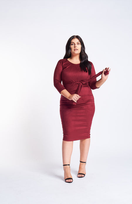 Kaia Purple Wrap Dress