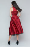 Blondelle Cranberry Satin Skirt